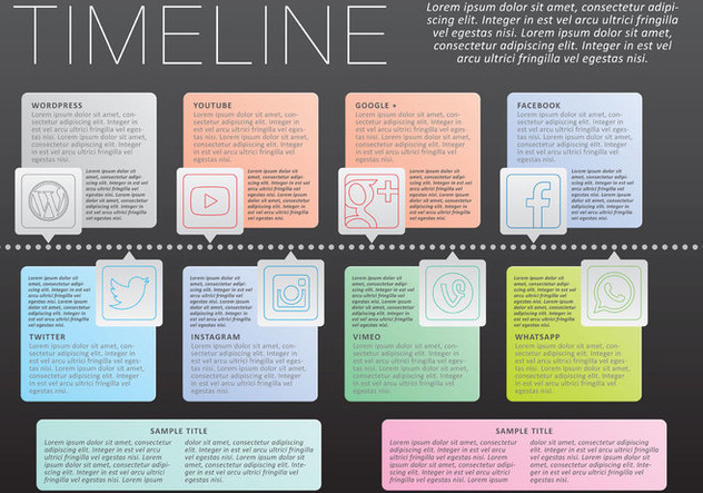 Timeline Infography Vector - Free vector #303647