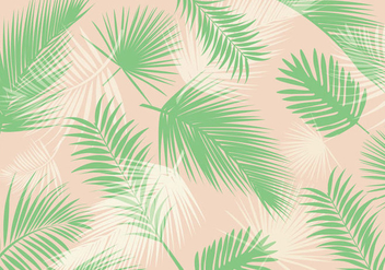 Palm leaf pattern vector - Free vector #303677