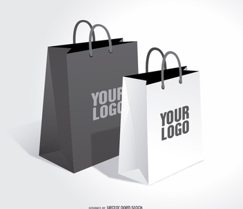 Shopping bags mock up - vector gratuit #303697