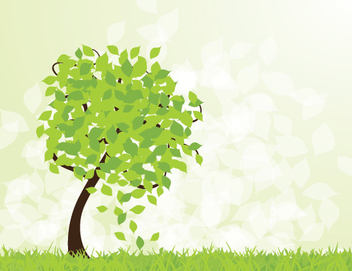 Spring Tree Landscape Background - vector #303717 gratis