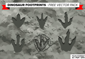 Dinosaur Footprints Free Vector Pack - Kostenloses vector #303817