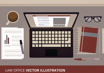 Work Space Vector Illustration - vector gratuit #303827