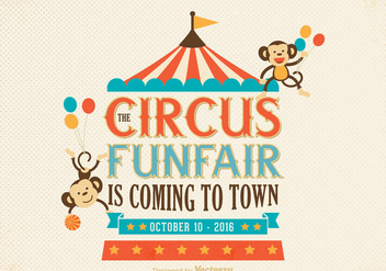 Free Old Circus Poster Vector - Free vector #303877