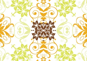 Citrus colored floral background - vector gratuit(e) #304267