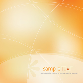 Lines Floral Orange Background - vector gratuit #304307