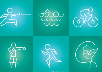 Sport Tin Line Icons - Free vector #304377