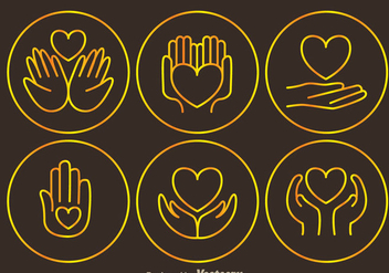 Donate Tin Outline Icons - vector #304387 gratis