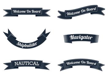 Nautical Ribbon - бесплатный vector #305067