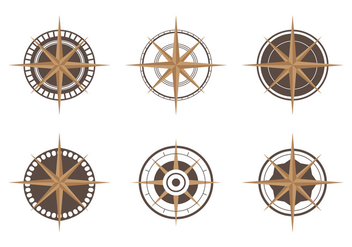 Compass Icon Set - vector gratuit #305077
