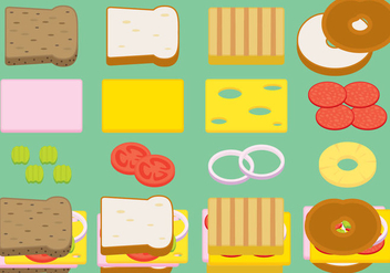 Sandwiches - Free vector #305107