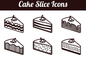 Cake slice isolated vectors - Kostenloses vector #305157