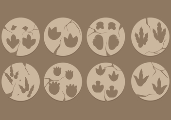 Dinosaur Footprint Vetors - Free vector #305437