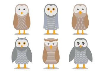 Barn Owl Vectors - Free vector #305447