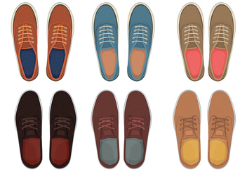 Mens shoes top view - Free vector #305567