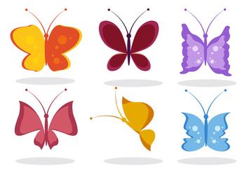 Butterfly Cartoon Vector - Free vector #305597