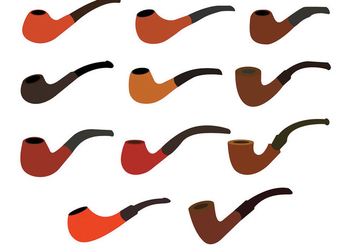 Tobacco Pipe Icons - Free vector #305777