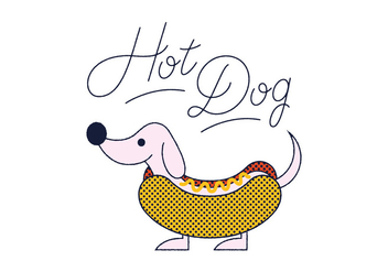 Free Hot Dog vector - Kostenloses vector #305857