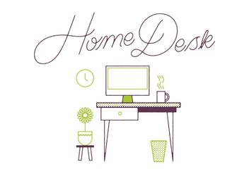 Free Desk Vector - vector #305877 gratis