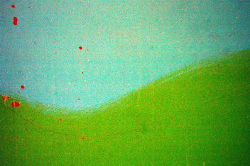painted turquoise and green kid art texture - Free image #310787