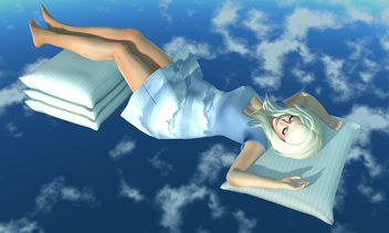 Sleeping in the Clouds - Free image #315297