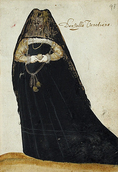 Venetian Woman in Mourning, Circa 1595 - image gratuit #316567