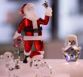 Christmas Santa and crystal snowman - бесплатный image #317357