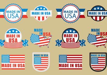 Made In USA Badges - vector gratuit #317467