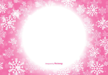 Beautiful Pink Christmas Snowflake Background - vector gratuit #317507