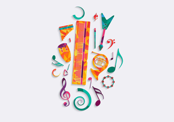 Free Music Background Vector - vector gratuit #317567