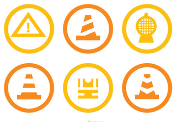 Under Construction Circle Icons - Free vector #317607