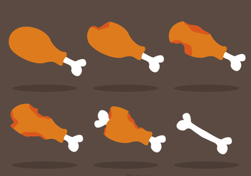 Chicken Leg Vector - vector #317637 gratis