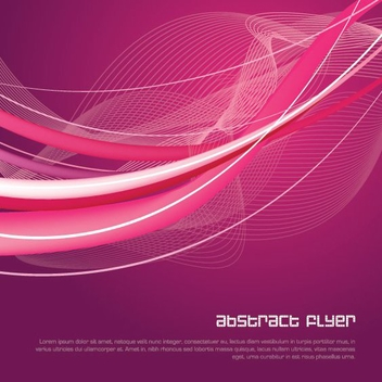 Abstract Spiral Waves Flyer Design - vector #317717 gratis