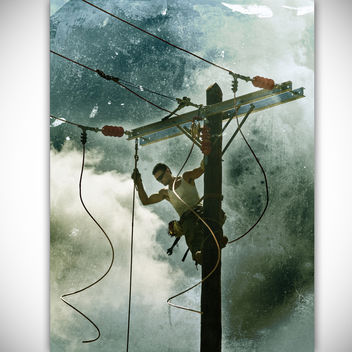 Man on the wires [I shall be Released - green] - Free image #322267