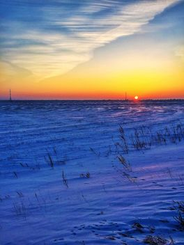 Field covered with snow - бесплатный image #326507