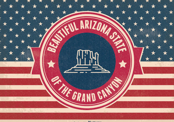 Retro Arizona Grand Canyon state Illustration - Free vector #326617