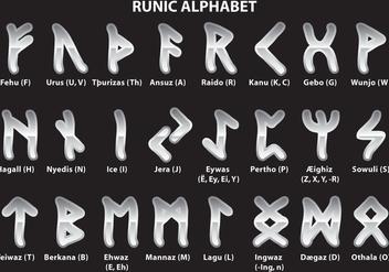 Silver Runic Alphabet - Free vector #326627