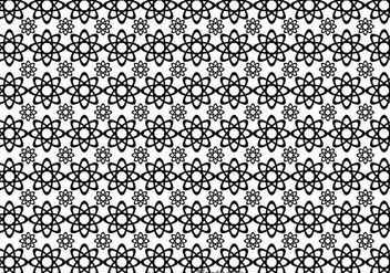Black And White Flowers Shape Pattern - vector gratuit #326687