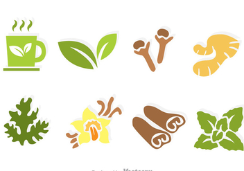 Herbal Tea Vector Icons - Free vector #326717
