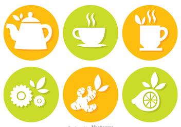 Tea Circle Vectors - Free vector #326757