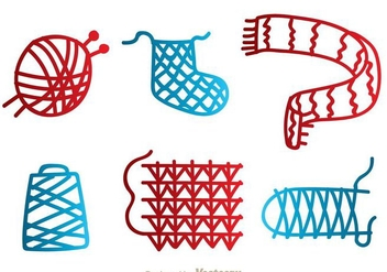 Ball Of Yarn Red Craft Vectors - vector gratuit #326777