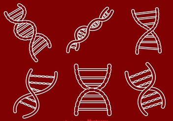 Double Helix Outline Icons - vector #326787 gratis