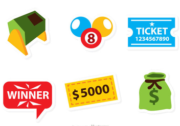 Vector Lottery Icons - vector gratuit #326807