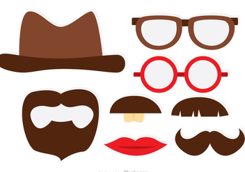 Photobooth Mustaches Theme Vectors - Free vector #326817