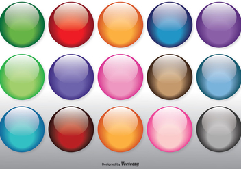 Colorful Glossy Orbs Set - Free vector #327077
