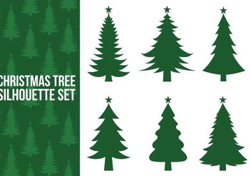 Christmas tree silhouette vectors - Free vector #327117
