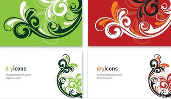 Two Parts Swirls Business Cards - vector gratuit #327217
