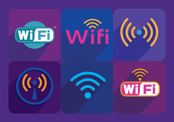 Wifi Symbol Vectors - Free vector #327397