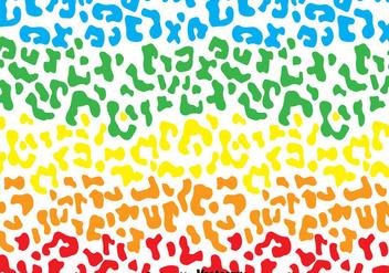 Rainbow Leopard Pattern - Free vector #327517