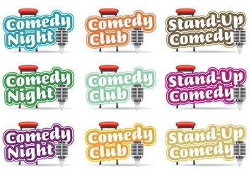 Comedy Logos Titles - Free vector #327537