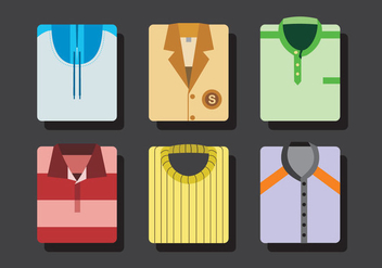 Colorful Folded Shirt Vectors - Free vector #327547